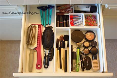 organized bathroom drawers  sunny side  blog