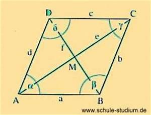 Raute Diagonale Berechnen : geometrie eigenschaften von quadrat rechteck gleichschenkliges trapez und drachenviereck ~ Themetempest.com Abrechnung