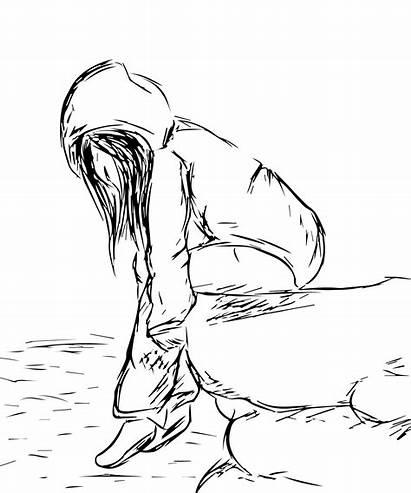 Sad Anime Drawing Depressed Getdrawings Drawn