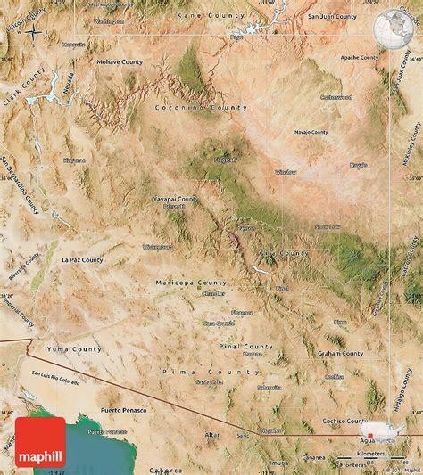 Satellite Map Of Arizona