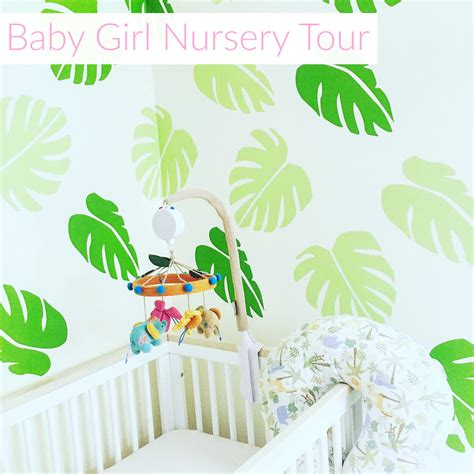 Baby Girl Jungle Nursery Tour  The Friendly Fig
