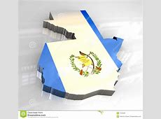 3d flag map of guatemala stock illustration Illustration