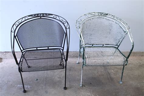 refinishing wrought iron furniture family style living