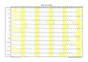 2016 Year Planner with Week Numbers