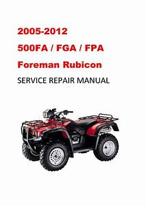 2005 Fga  Fpa Service Repair Manual