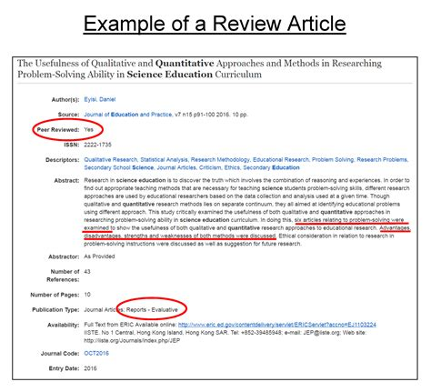 You may wonder what kind of paper it is and what. Evaluating Journal Articles - Education Research for Graduate Students - LibGuides at Valdosta ...