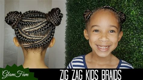 Zig Zag Braid Hairstyle For Kids
