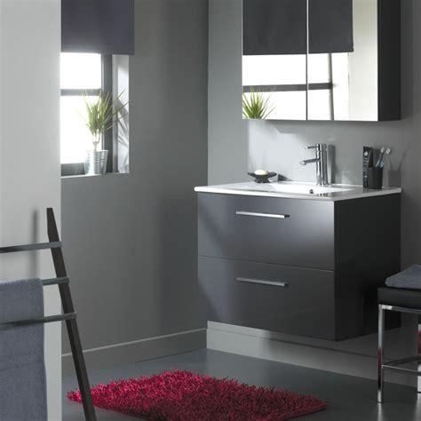 vente meuble de salle de bain 80 cm meubles 2 tiroirs gris