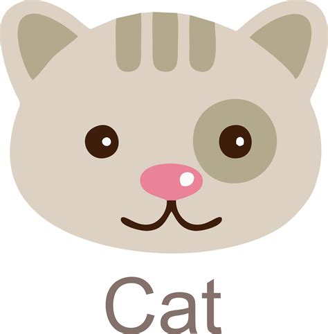 cat face clipart icon  daily cliparts