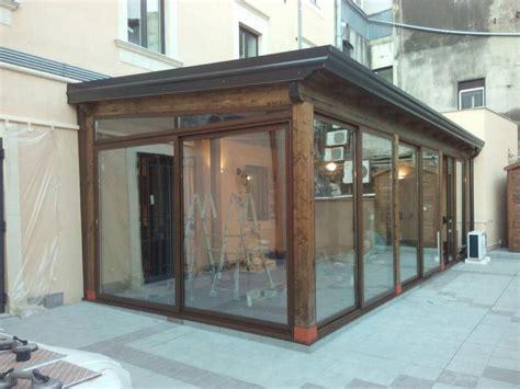 veranda in alluminio veranda in alluminio colore legno lanzafame serramenti
