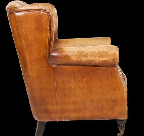 vintage style leather accent chair horner interiors