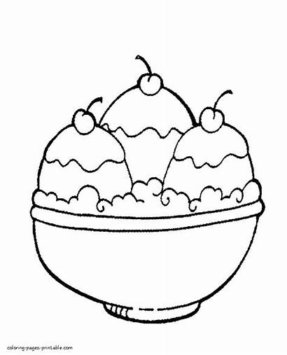 Ice Cream Coloring Pages Bowl Printable Fortnite