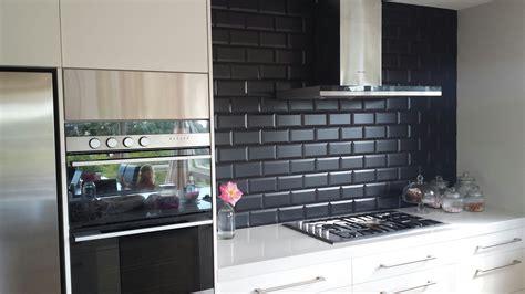 black backsplash kitchen image of black subway tile kitchen backsplash home