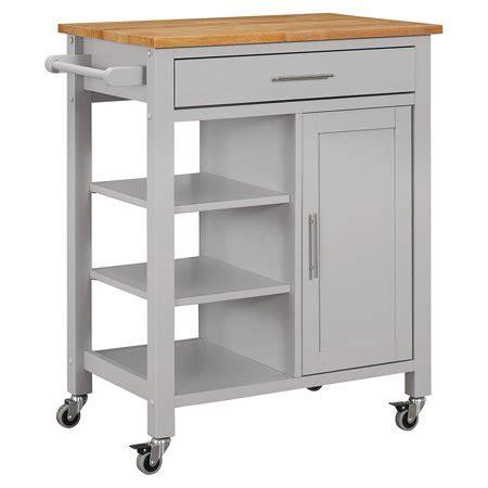 edmonton kitchen kart gray walmartcom