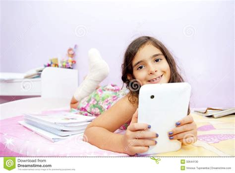 Kid And Tablet Stock Photo Image 32644130