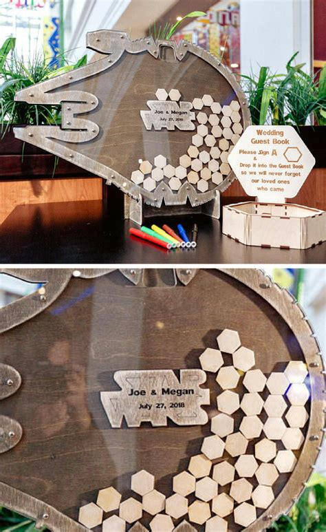 cool star wars inspired millennium falcon guest book alternative this is the coolest star wars