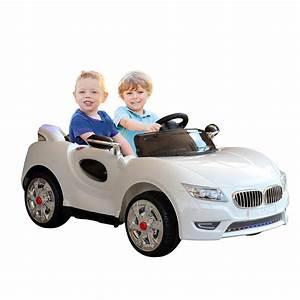 Voiture Electrique 2 Places : homcom voiture electrique enfant 2 places 12v 2 moteurs 3 5 7 5 km h t l commande blanc aosom ~ Medecine-chirurgie-esthetiques.com Avis de Voitures