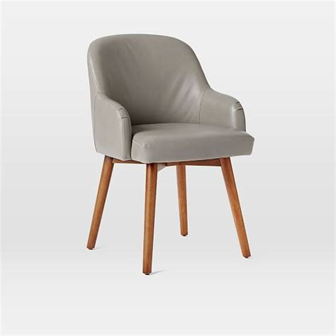 saddle leather dining chair west elm