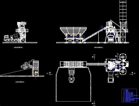 plant concrete manufacturing hormigon dwg block