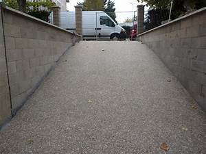 terrassement et pose de la chaudiere descente de garage With descente de garage en beton desactive