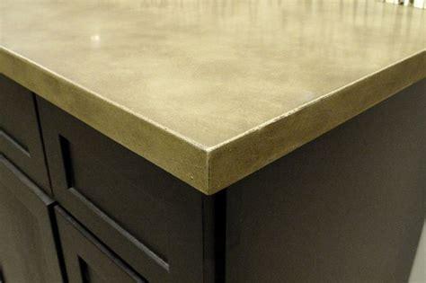 eased edge concrete countertop replacing kitchen