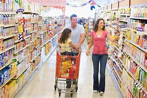 Family grocery shopping in supermarket | Stock Photo ...