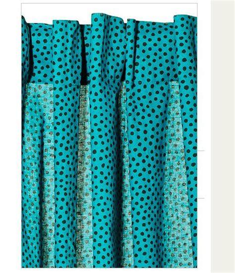 turquoise curtain panels ikea n 196 tvide natvide curtains drapes 2 panels turquoise black polka dot
