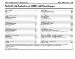 2017 Ford Fusion Energi  Hybrid Lincoln Mkz Hybrid Wiring