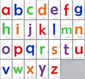 24 best free printables kindergarten preschool images on for Flash cards alphabet letters