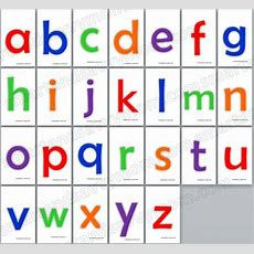 Colorful Lower Case Alphabet Flash Cards Sixe 3x5 Free Printable  Free Printables Kindergarten