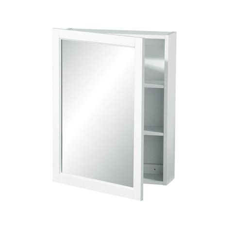 White Mirrored Bathroom Wall Cabinet by New White Wood Wall Mounted Mirrored Cabinet Storage Flat