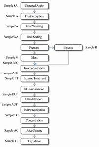 Concentrated Apple Juice Flow Diagram And Sampling