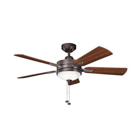 bronze ceiling fan light kit kichler ceiling fan with light kit in oil brushed bronze