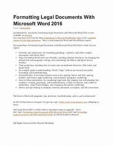 Formatting legal documents with microsoft word 2016 for Microsoft legal documents