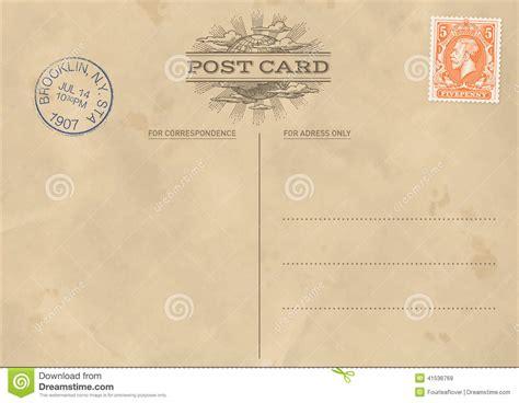 vector vintage postcard template stock vector image