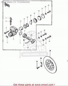 Kawasaki Kz400 1974 Usa Canada    Mph Kph Front Brake   U0026 39 74 - U0026 39 75 Kz400  Kz40