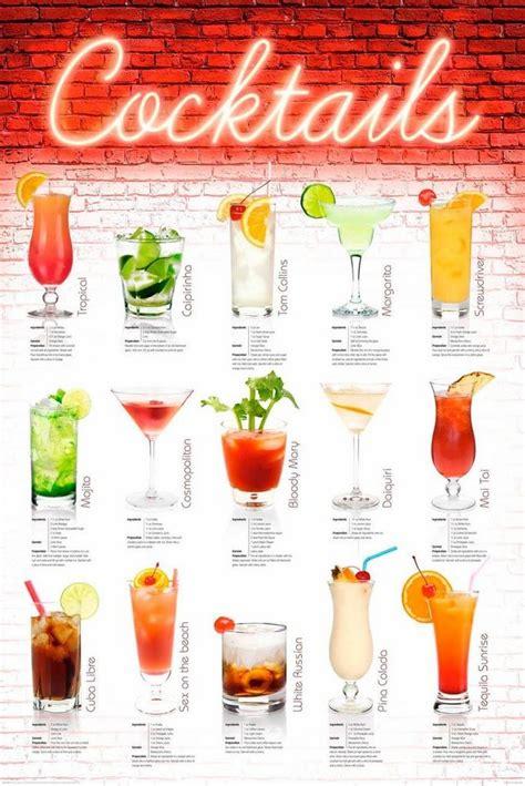 deco panel cocktails englisch getraenk schriftzug
