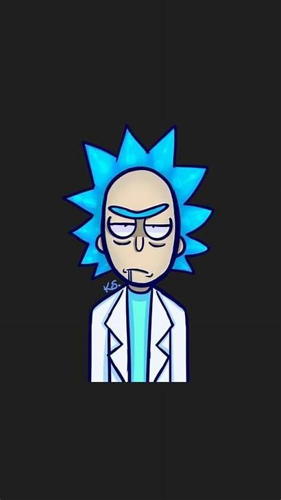 Rick Sanchez Wallpapers Morty Iphone Cartoon Parede