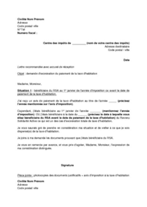 modele lettre exoneration taxe amenagement exemple gratuit de lettre demande exon 233 ration taxe