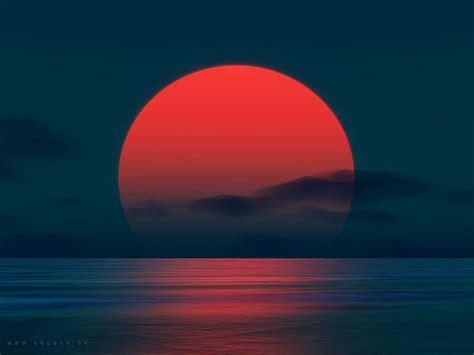 colorful dark sunsets red  big digital art