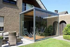 terrassen uberdachung flachdach mit glas With französischer balkon mit garten überdachung