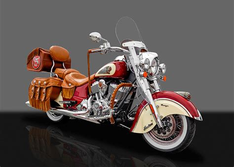 Indian Chief Vintage Image by 2015 Indian Chief Vintage Motorcycle 3 Photograph By