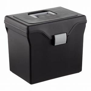 black letter size portable file box the container store With letter size file box