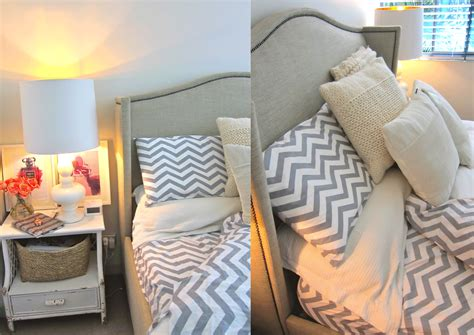 Chevron Bedrooms by Once Daily Chic Chevron Floral Bedroom Makeover