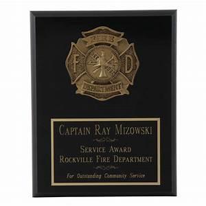 Fire Department Appreciation Plaque