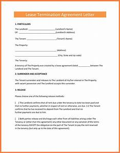 8 termination of rental agreement letter by tenant With sample letter to end lease agreement