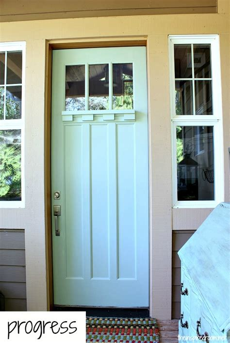 blue front door front door makeover the inspired room