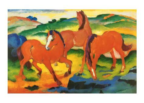 franz marc die roten pferde poster kunstdruck bei