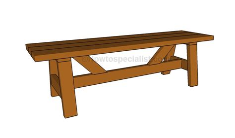 build  simple bench howtospecialist   build step  step diy plans