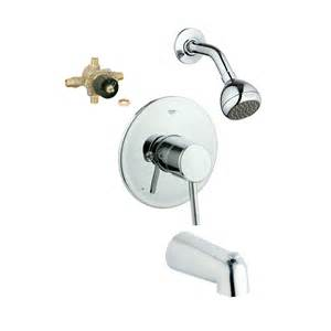 shop grohe concetto starlight chrome 1 handle bathtub and